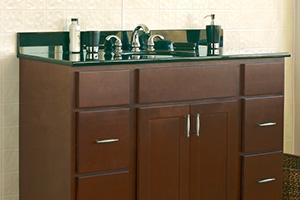 craftsman u2013 salem cherry bathroom vanity