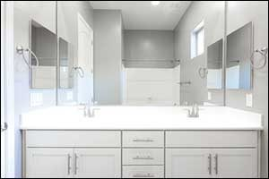 White Providence Bathroom Remodel