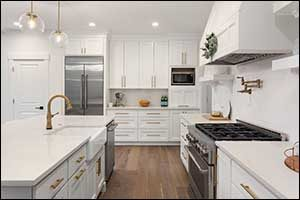 white south coast kitchen cabinets in taunton